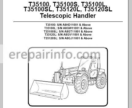Bobcat T35100 T35120 Service Manual Telescopic Handler