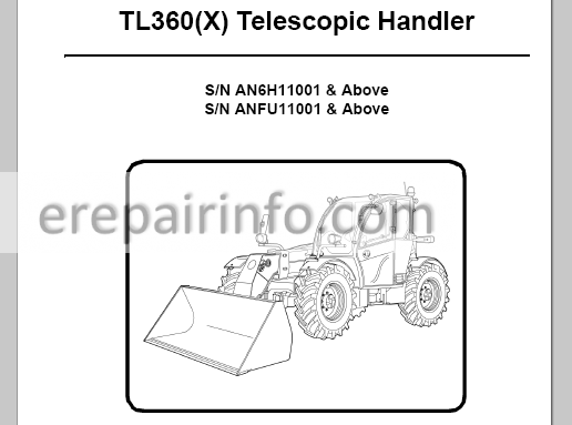 Bobcat TL360(X) Service Manual Telescopic Handler 6990100