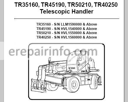 Bobcat TR35160 TR45190 TR20210 TR40250 Service Manual