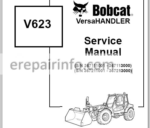 Bobcat V623 Service Manual VersaHANDLER 6901675 3-06