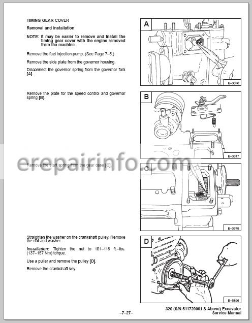 Bobcat X320 Service Repair Manual Hydraulic Excavator