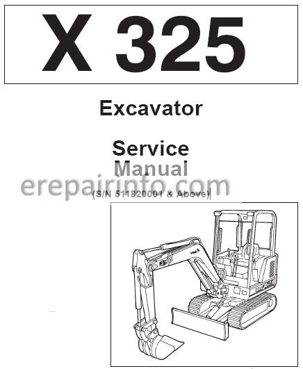 Bobcat X 325 Service Repair Manual Excavator 6722849 4-94