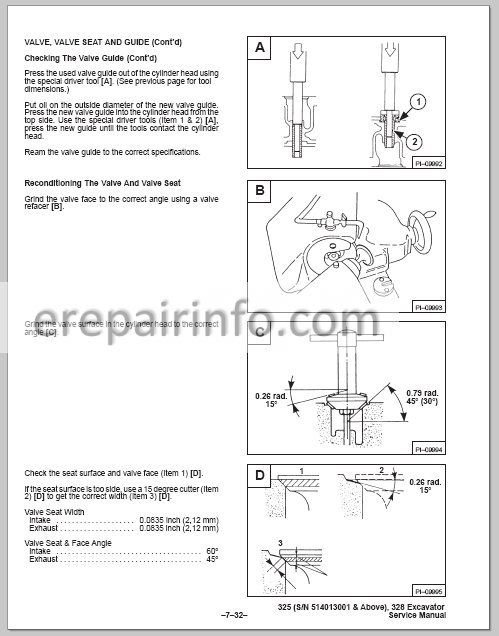 Bobcat X 325 Service Repair Manual Hydarulic Excavator 6900462 3-98