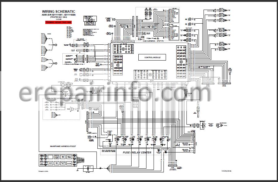 Bobcat A300 Service Repair Manual Skid Steer Loader