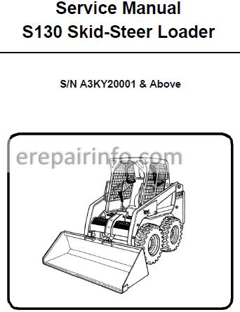 Bobcat S130 Service Manual Skid Steer Loader 6987032 11-10