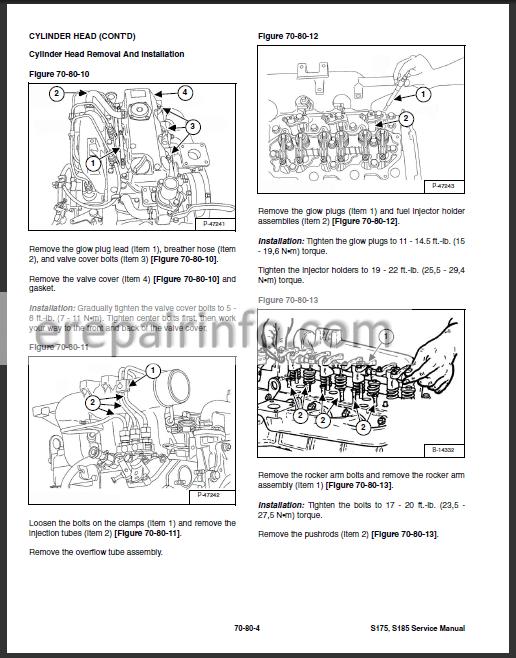 Bobcat S175 S185 Service Manual Skid Steer Loader 6904132