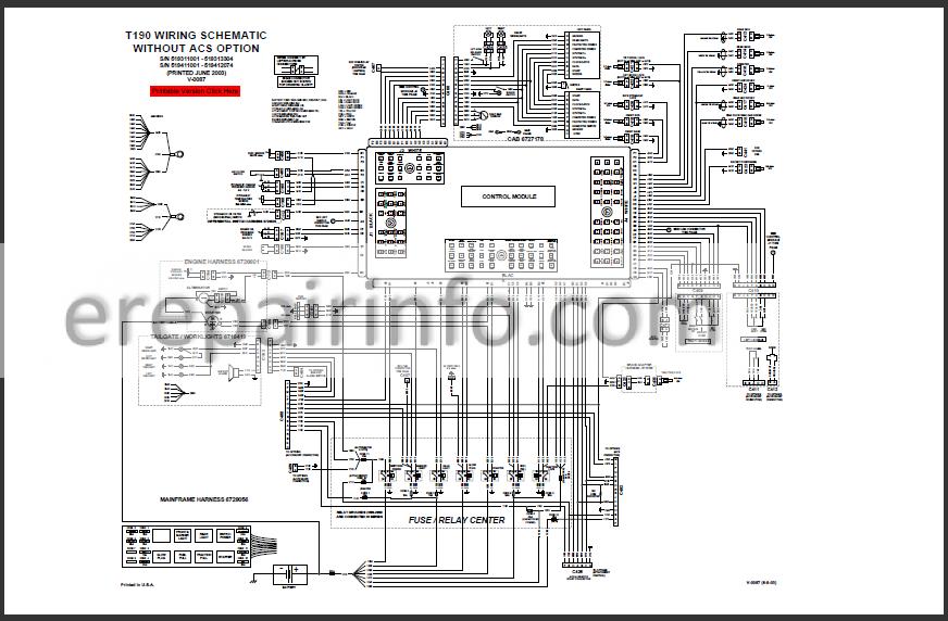 Bobcat T190 Service Repair Manual Compact Track Loader 6901117 2
