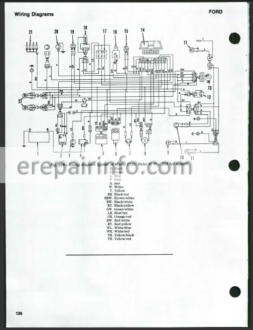 ford new holland 1120 1220 1320 1520 1720 1920 2120 shop manual tractor Ford 2000 Tractor Wiring Diagram