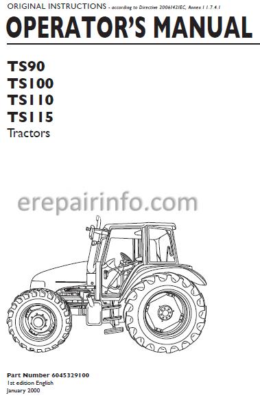New Holland Tractor Tl Alternator Wiring Diagram on