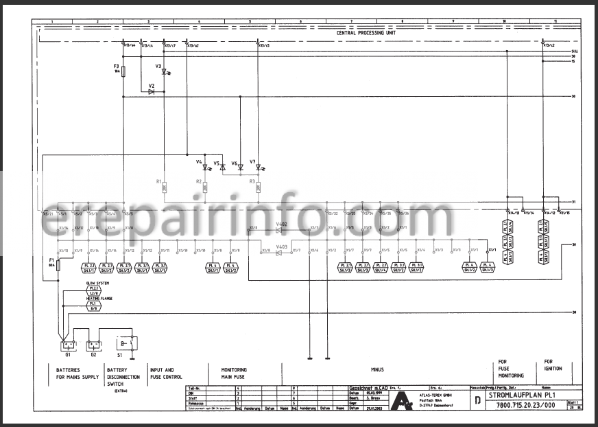 Terex Atlas 1504    1604 Lc Workshop Manual Excavator