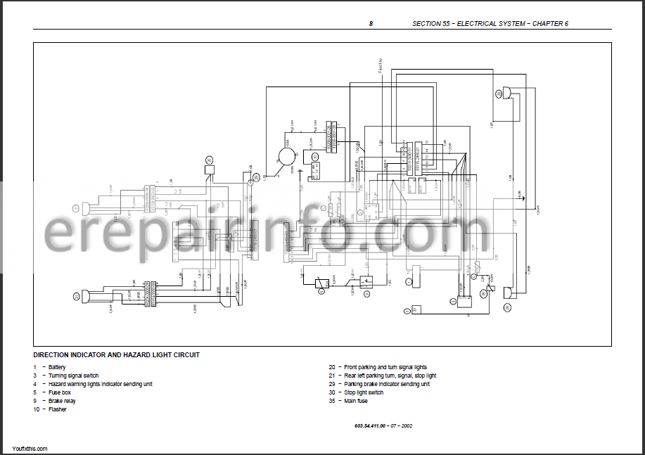 New Holland TD55D TD65D TD75D TD85D TD95D Repair Manual