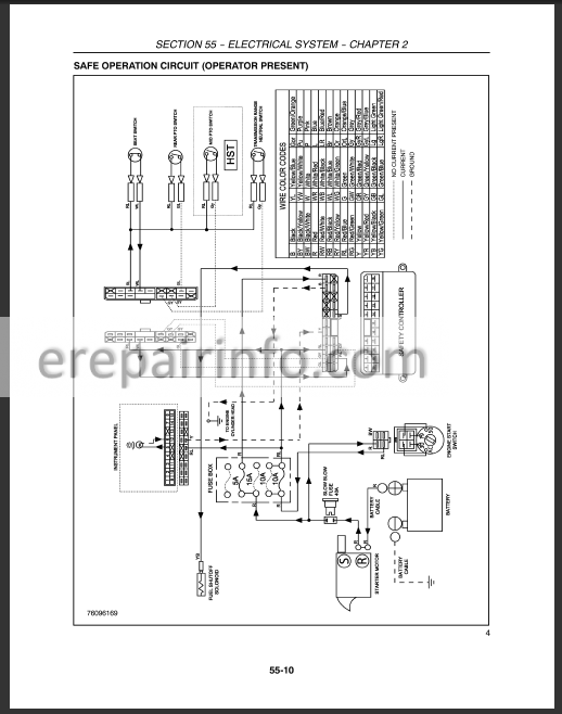 New Holland T1510 T1520 Service Manual