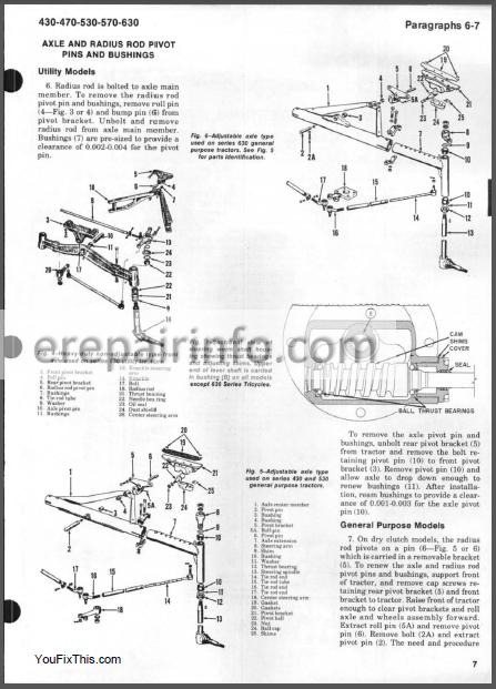 Case 430 440 470 530 540 570 630 640 Shop Manual