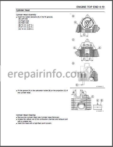 Kawasaki Prairie 360 Kvf360 Service Manual Atv