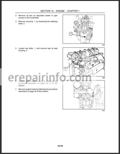 New Holland TT60 TT75A Repair Manual Tractors on
