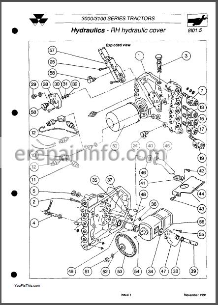 Massey Ferguson 3000 3100 Service Manual Tractor