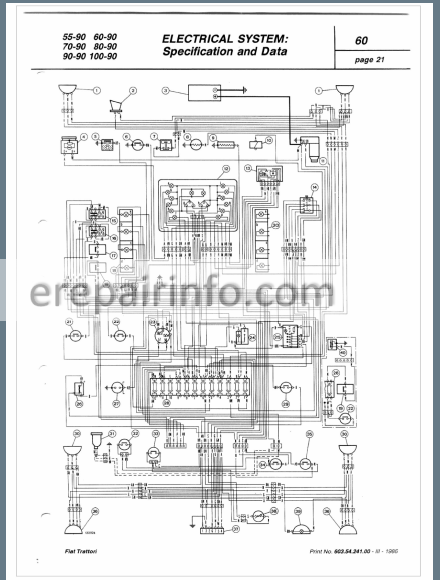 Fiat 55-90 60-90 70-90 80-90 90-90 100-90 Workshop Manual