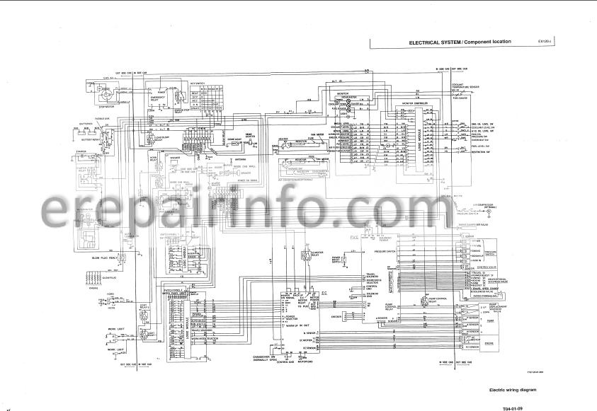 Hitachi EX120-2 Technical Manual Excavator