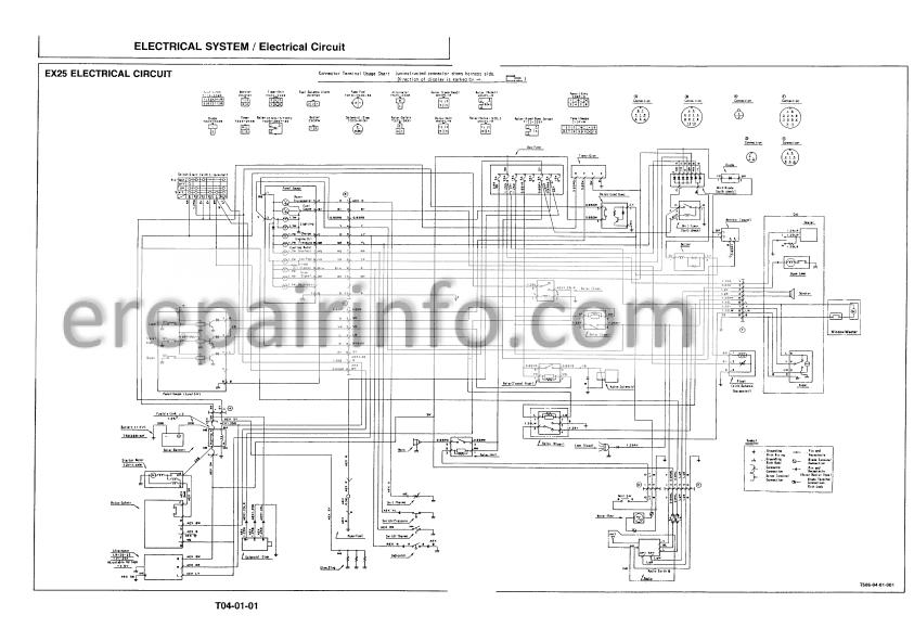 Hitachi EX25 EX35 EX40 Technical Manual