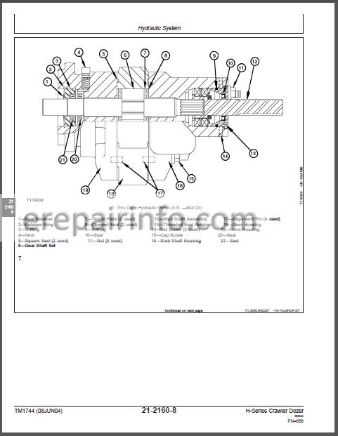 JD 450H 550H 650H Repair Manuals set