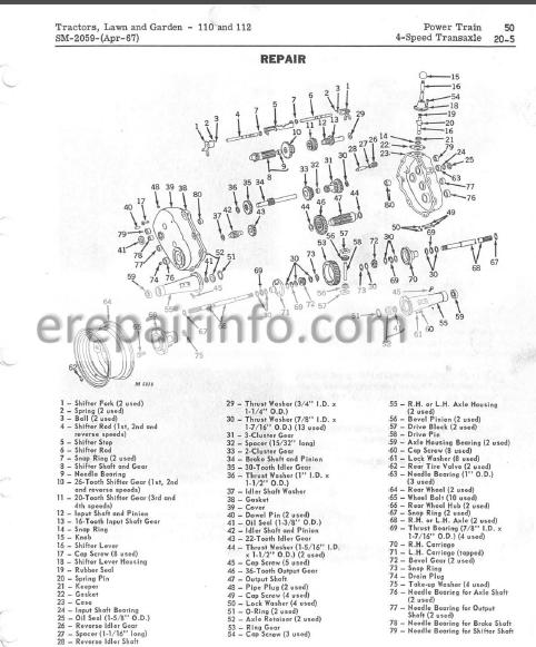 JD 110 112 Service Repair Manual SM2059