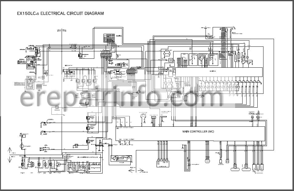 Hitachi EX150LC-5 EX160LC-5 Workshop Manual Excavator