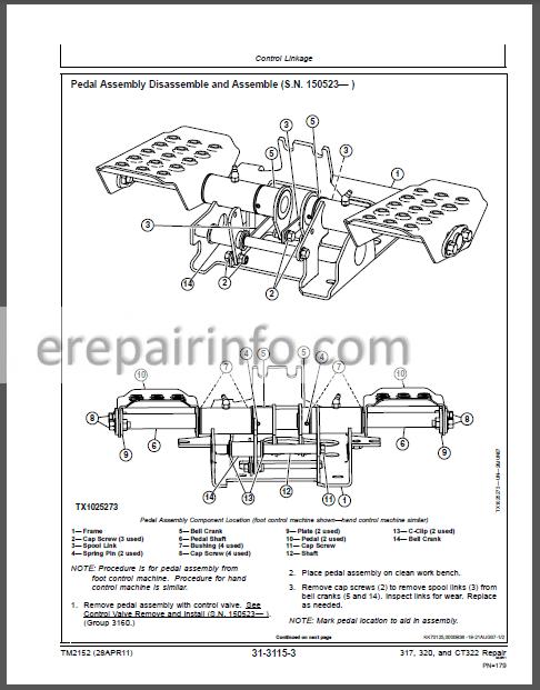 JD 317 320 CT322 Tehnical Repair Manual TM2152