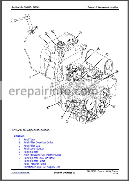 JD 2025R Technical Repair Manual TM127019