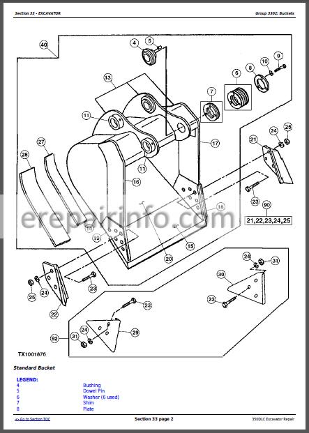 JD 350DLC Technical Repair Manual TM2360