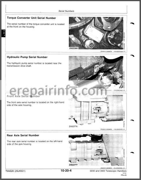 JD 3200 3400 Repair Manual TM4626