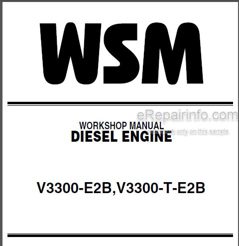 Kubota V3300-E2B V3300-T-E2B Workshop Manual Diesel Engine