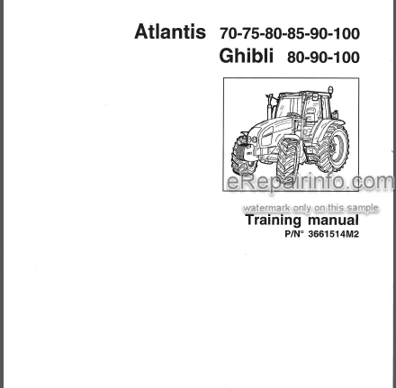 Landini Atlantis 70 75 80 85 90 100 Ghibli 80 90 100