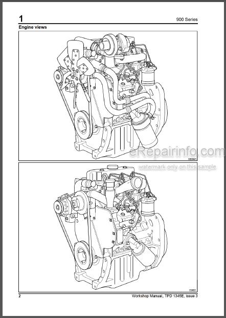 Perkins 900 Series CP CR Workshop Manual Diesel Engines
