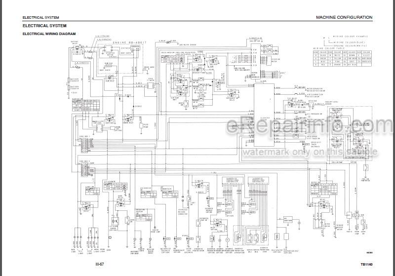 Takeuchi TB1140 Workshop Manual Hydraulic Excavator