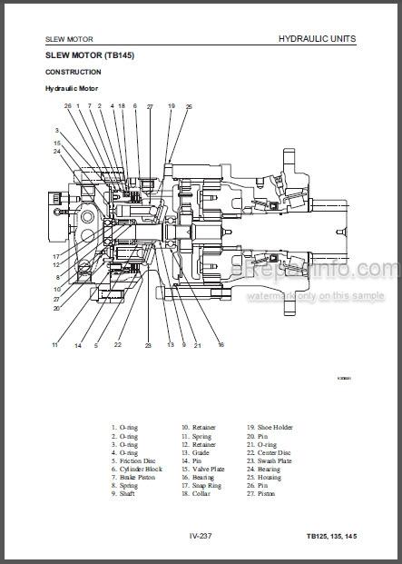 Takeuchi TB125 TB135 TB145 Workshop Manual Compact