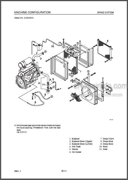 Takeuchi Tekeuchi TL130 Workshop Manual Crawler Loader