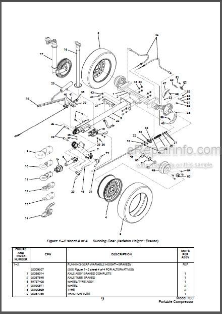Bobcat 720 Parts Catalog Portable Compressor 6900028