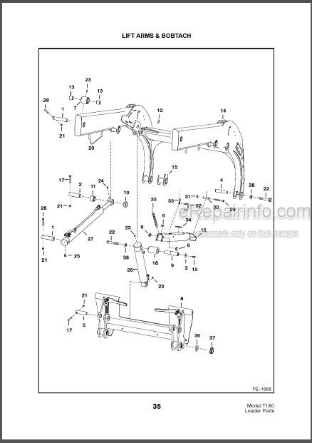 Bobcat T180Turbo Parts Catalog Skid Steer Loader 6902471