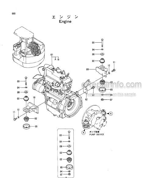 Hitachi EX40UR Parts Catalog Excavator