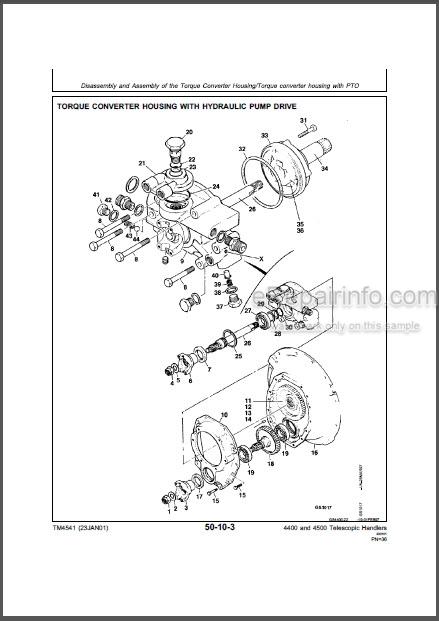John Deere 4400 4500 Technical Manual Telescopic Handler