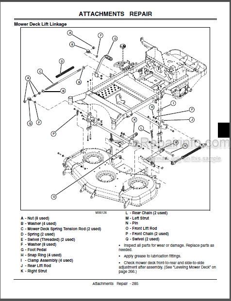 John Deere 737 757 Technical Manual Mid-Mount Z-Trak