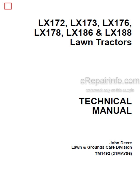 Jd Lx172 Lx173 Lx176 Lx178 Lx186 Lx188 Technical Manual