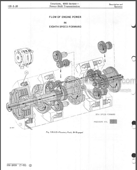 John Deere 4010 4020 Service Manual Tractors SM2039