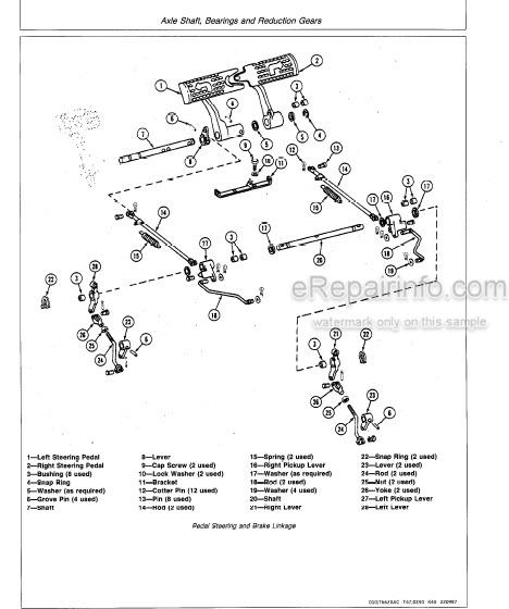 John Deere 450E 455E Repair Manual Crawler Bulldozer