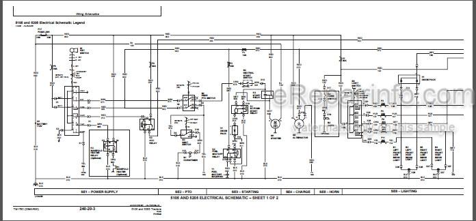 John Deere 5105 5205 Technical Repair Manual Tractors
