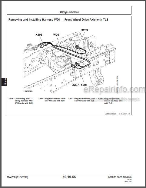 John Deere 6020 To 6620 SE Series Repair Manual Tractors