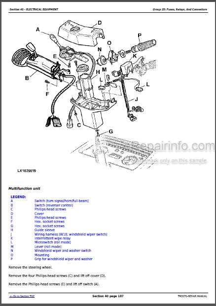 John Deere 7220 7320 7420 7420 Hi-Crop 7520 Repair Manual