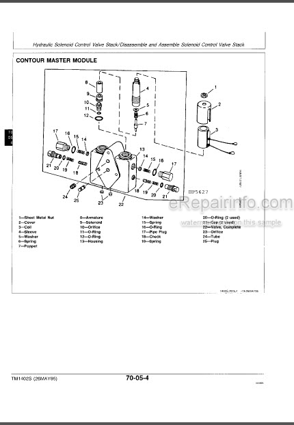 John Deere 9400 9500 Sidehill 9600 9500 Diagnostics And