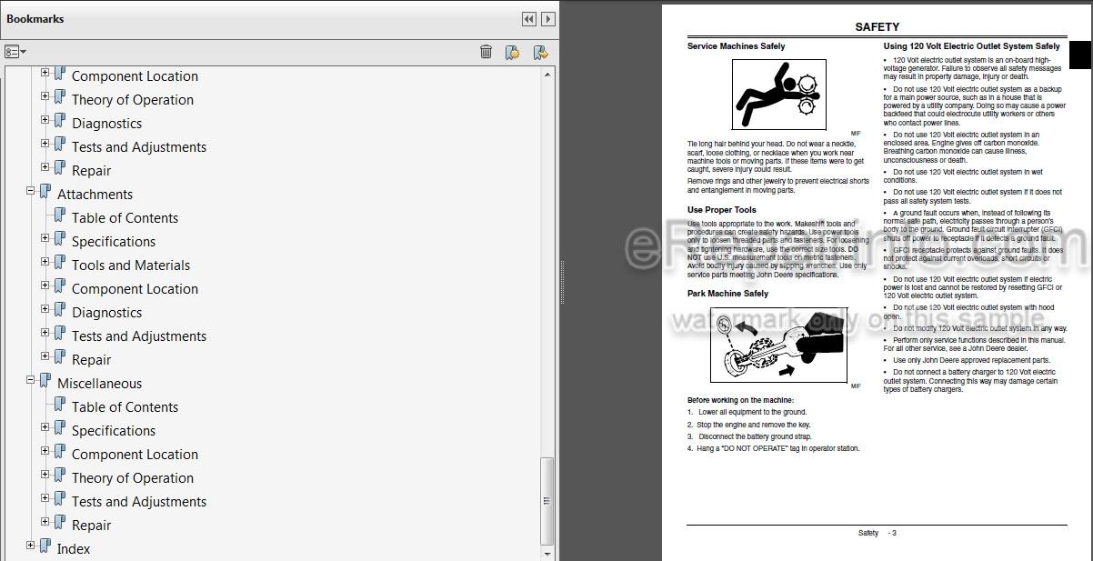 John Deere GT225 GT235 GT235E GT245 Technical Manual