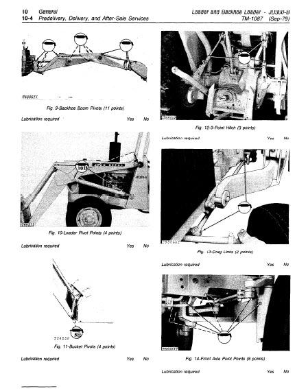 John Deere JD300-B Technical Manual Loader And Backhoe